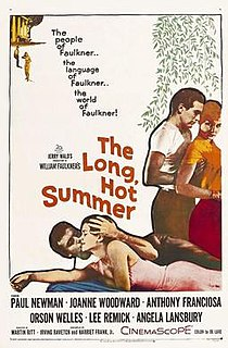 <i>The Long, Hot Summer</i> 1958 film by Martin Ritt