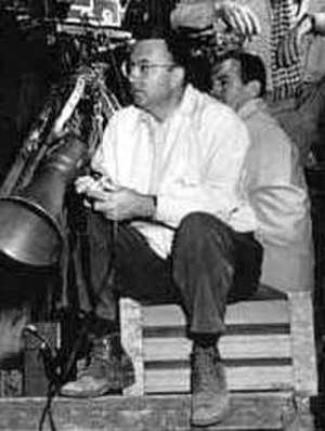 Jacques Tourneur - on set, date unknown