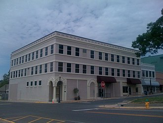 Vernon Parish, Louisiana - Old First National Bank Building in downtown Leesville, LA, now the Courthouse Annex building.
