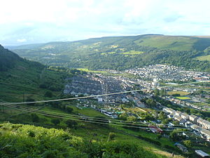 South Wales Valleys - View of the Cwm Cynon from Penrhiwcaradog Farm, near Penrhiwceiber, Rhondda Cynon Taf