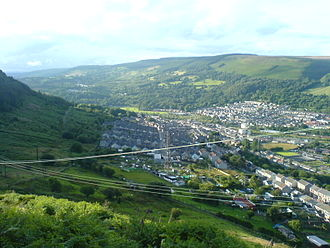 South Wales Valleys - View of the Cwm Cynon from Penrhiwceiber, Rhondda Cynon Taf