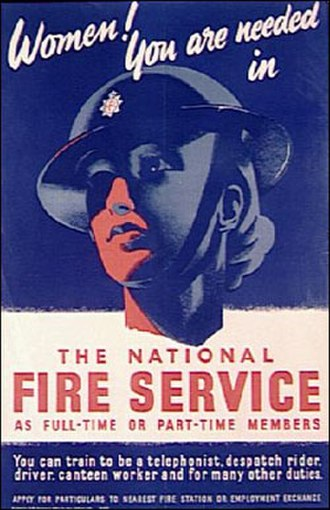 National Fire Service - Second World War poster encouraging women to join the National Fire Service