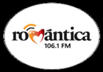 XHDRD-FM - Image: XHDRD Romantica 106.1 logo