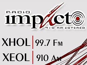 XHOL-FM - Image: XHOL Radio Impacto 99.7 logo