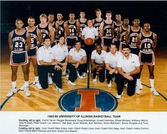1985–86 Illinois Fighting Illini men's basketball team - Image: 1985–86 Illinois Fighting Illini men's basketball team