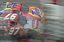 The photo finish between Ricky Craven and Kurt Busch