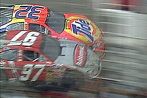2003 Carolina Dodge Dealers 400 - The photo finish between Ricky Craven and Kurt Busch