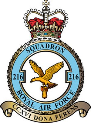 No. 216 Squadron RAF - 216 Squadron badge