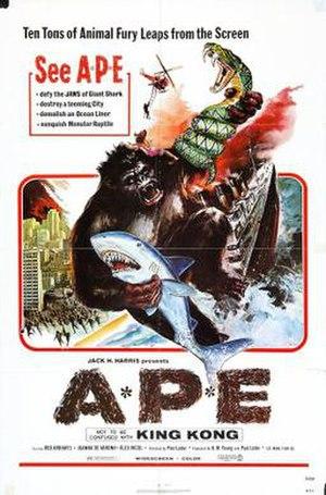 Ape (1976 film) - Image: A*P*E* (movie poster American release)
