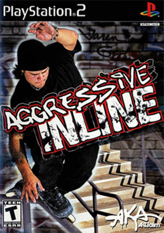 Aggressive Inline (video game) - North American PlayStation 2 cover art