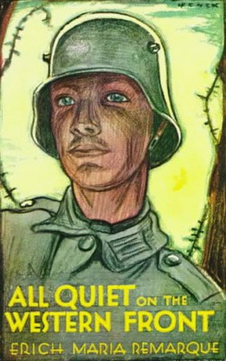 All Quiet on the Western Front - Cover of first English language edition. The design is based upon a German war bonds poster by Fritz Erler.