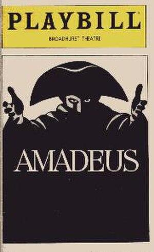 Amadeus - Playbill, 1981
