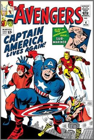 Captain America - Image: Avengers (1964) March poster 4