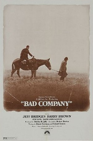 Bad Company (1972 film) - Theatrical release poster