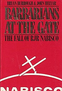 <i>Barbarians at the Gate</i> 1989 book by Bryan Burrough and John Helyar
