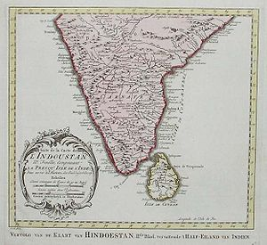 Carte de L'Indoustan. Bellin, 1770.