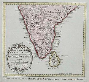 Carte de L'Indoustan. Bellin, 1770.