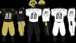 2008 Colorado Buffaloes football team - Image: Big 12 Uniform CU 2007 2008