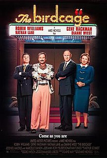 <i>The Birdcage</i> 1996 film by Mike Nichols