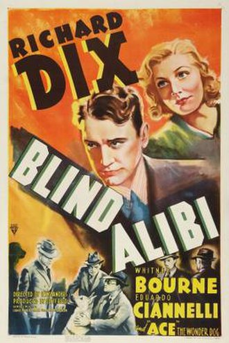 Blind Alibi - Theatrical release poster