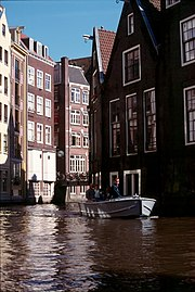 Canal in the centre of Amsterdam.