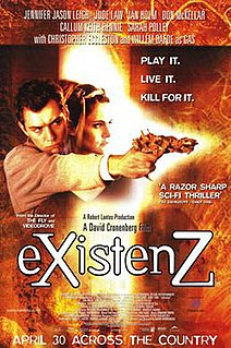 <i>Existenz</i> 1999 SciFi film directed by David Cronenberg
