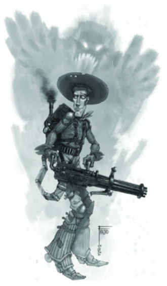 Darkwatch - An early concept art for the game's protagonist