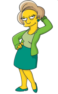 Edna Krabappel fictional character from The Simpsons franchise