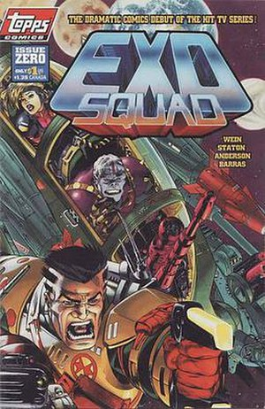 Exosquad - The comic book adaptation was published by Topps Comics