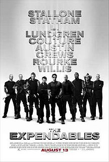 <i>The Expendables</i> (2010 film) 2010 first film of The Expendables series directed by Sylvester Stallone