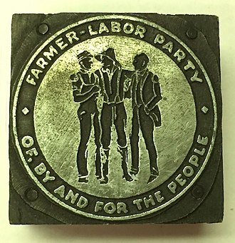 Farmer–Labor Party - Ballot logo of the Farmer-Labor Party, circa 1924.