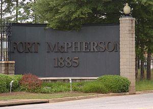 Fort McPherson - Image: Front Gate Mc Pherson