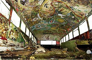 Further (bus) - Inside Further, psychedelic and trippy paintings