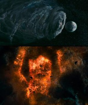 Galactus - A version of Galactus as appearing in the feature film Fantastic Four: Rise of the Silver Surfer (2007).