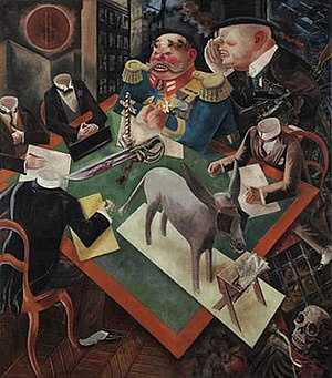 Post-expressionism - The Eclipse of the Sun by George Grosz, 1926