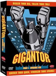 <i>Gigantor</i> 1960s Japanese animated TV show featuring a giant robot