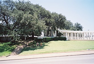 Dealey Plaza - The Grassy Knoll and Bryan pergola on the north side of Elm Street