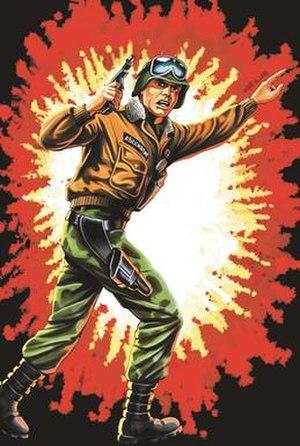 Hawk (G.I. Joe) - Packaging artwork for Hawk's 1986 action figure.