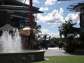 Logan Hyperdome - Hyperdome Piazza with Hog's Breath Cafe on the left
