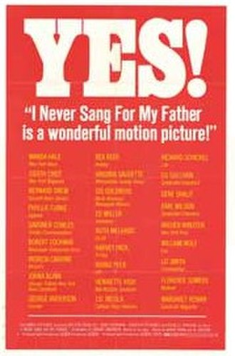 I Never Sang for My Father - film poster