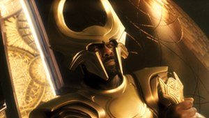 Heimdall (comics) - Idris Elba as Heimdall in the film Thor.