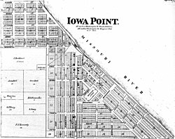 A plat of Iowa Point