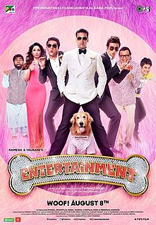 <i>Entertainment</i> (2014 film) 2014 Hindi film directed by Sajid-Farhad