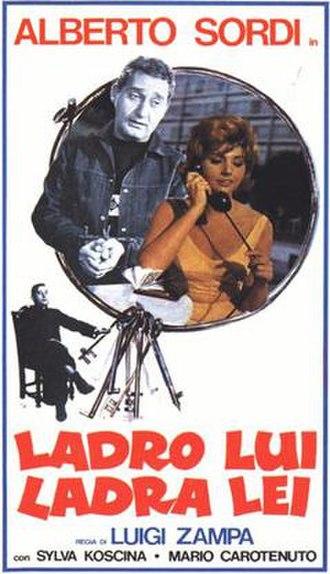 Ladro lui, ladra lei - Film poster