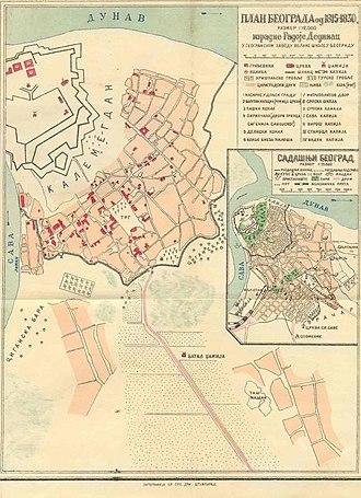 Vračar - Map of Belgrade from 1830