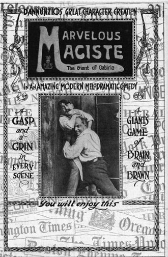 Maciste - Original trade ad for the first of the Maciste silent film series
