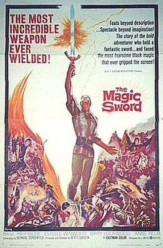 The Magic Sword (1962 film) - Theatrical release poster