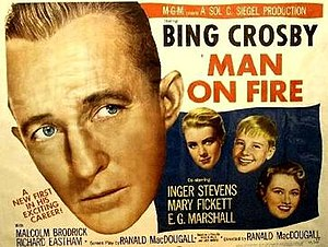 Man on Fire (1957 film) - Image: Man on Fire (1957 film) sheet