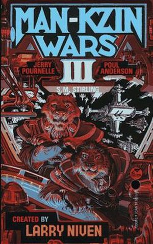 Kzin - Kzinti on the cover of Man-Kzin Wars III.