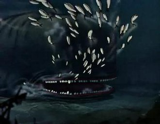"""The Terrible Dogfish - """"Monstro"""" as portrayed in Pinocchio (1940)."""